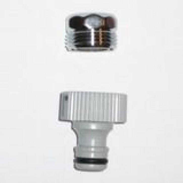 Hahnanschluss-Adapter für Aussengewinde, M22